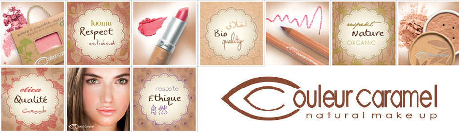 Couleur caramel maquillage bio