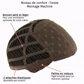 Perruque courte Hit look Tresse*