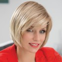 Mid-length Wig Lace Front - French Look - Mono-parting***