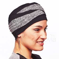 Turban en bambou Laura Noir Arizona