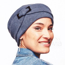 Esther Knitted Chemo Cap - Slate Blue
