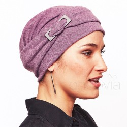 Bonnet Esther en maille Mauve