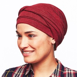 Estelle Chemo Winter Head Scarf - Bordeaux