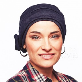 Estelle Chemo Jersey Head Scarf - Navy Blue
