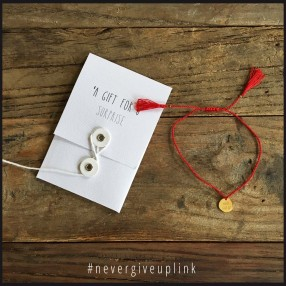 Bracelet Never Give up par Mister K Fighting kit