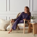 Mastectomy Pyjamas with Integrated Mastectomy Bra - Plum