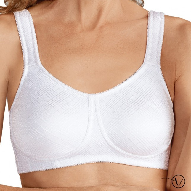 Dianna Wireless Mastectomy Bra - White - Amoena