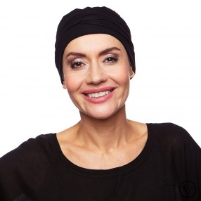 Louise Bamboo Night Cap - Black