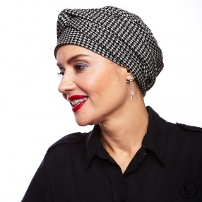 Estelle Chemo Head Scarf - Houndstooth