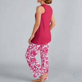Pyjama Set - Rose et Blanc