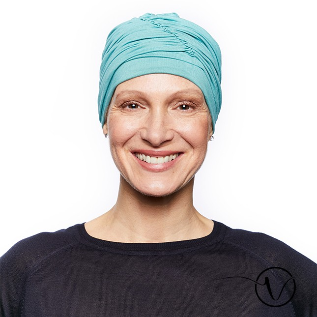 Fanny-Green Water Colour Bamboo Chemo Cap