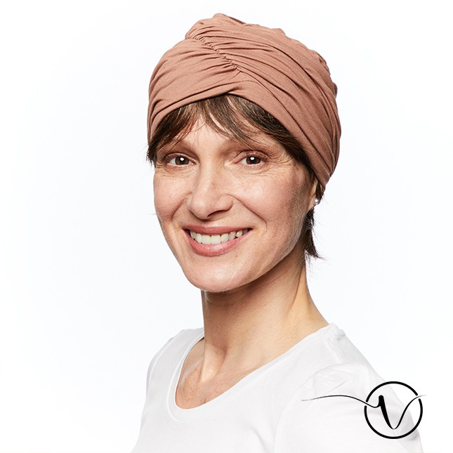Chemo Mütze Fanny aus Bambus - Taupe