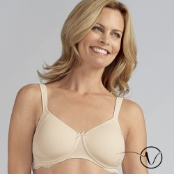 Lilly Padded Wireless Mastectomy Bra - Off-white