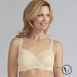 Lilly Underwired Mastectomy Bra - Off White