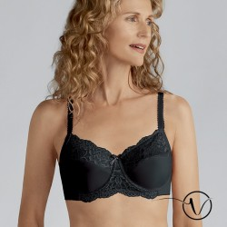 Lilly Underwired Mastectomy Bra - Black