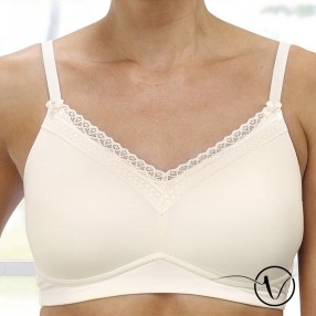 Lottie Padded Mastectomy Bra - Ivory