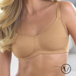 Allie Mastectomy Cotton Bra - Nude