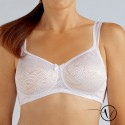Helena Padded Mastectomy Bra - White and Nude