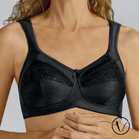 Isadora Wireless Mastectomy Bra - Black
