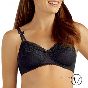 Karla Wireless Mastectomy Bra - Black