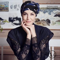 Turban chimio en bambou Lotus - Chic Parisien