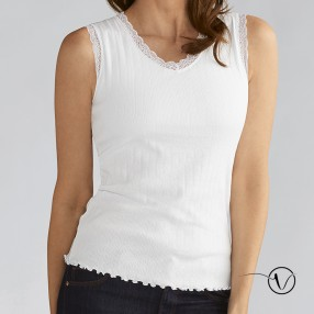 Amoena - Rip Top with integrated pocketed bra - White