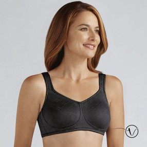 5a7bd95894342 Amoena - Dianna Wireless Mastectomy Bra - Black