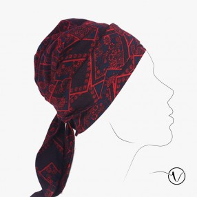 Chemo head scarf Estelle - Moscow red
