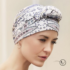 Bamboo Turban with long ties - Amaretto