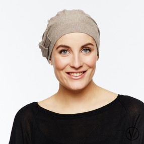 Chemo cap Léonie - Taupe Exclusif