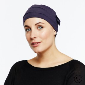 Chemo cap Lara - khaki - with loop