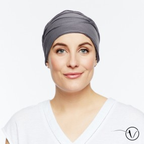 Chemo night cap Martha - Dark grey
