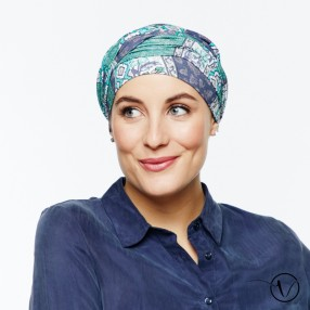 Estelle Bamboo Chemo Head Scarf with Long Ties – Luberon