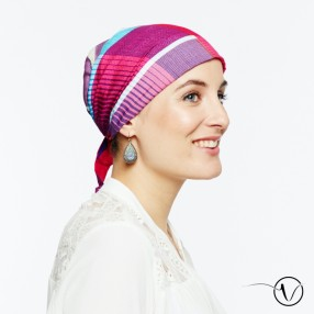 Pre-tied Cotton Bandana Head Scarf - Madras