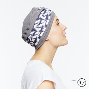 Bamboo Turban Laura Dinan Grey