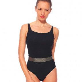 Mastectomy swimsuit Tosca - Black and Gold - Marli