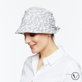 Anna Crinkled Cotton Chemo Hat - Black