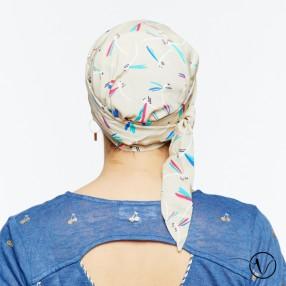 Estelle Cotton Chemo Head Scarf with Long Ties – Libellule