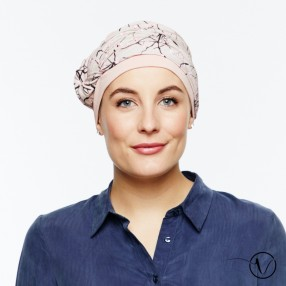 Bonnet turban Mathilde en bambou Rose japon