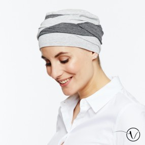 Olga Pleated Chemo Cap - Grey