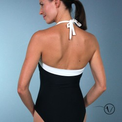 June Black Ivory Mastectomy Swimsuit
