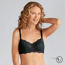 Lilly Wireless Mastectomy Bra - Black - Amoena