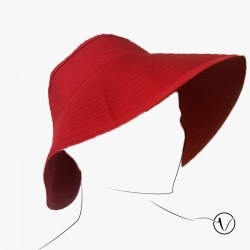Foldable Red hat in cotton