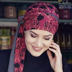 Bamboo Turban with long ties - Orchid