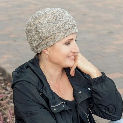 Esther Knitted Chemo Cap - Brown