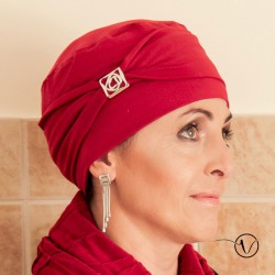 Bonnet Esther en bambou Rouge