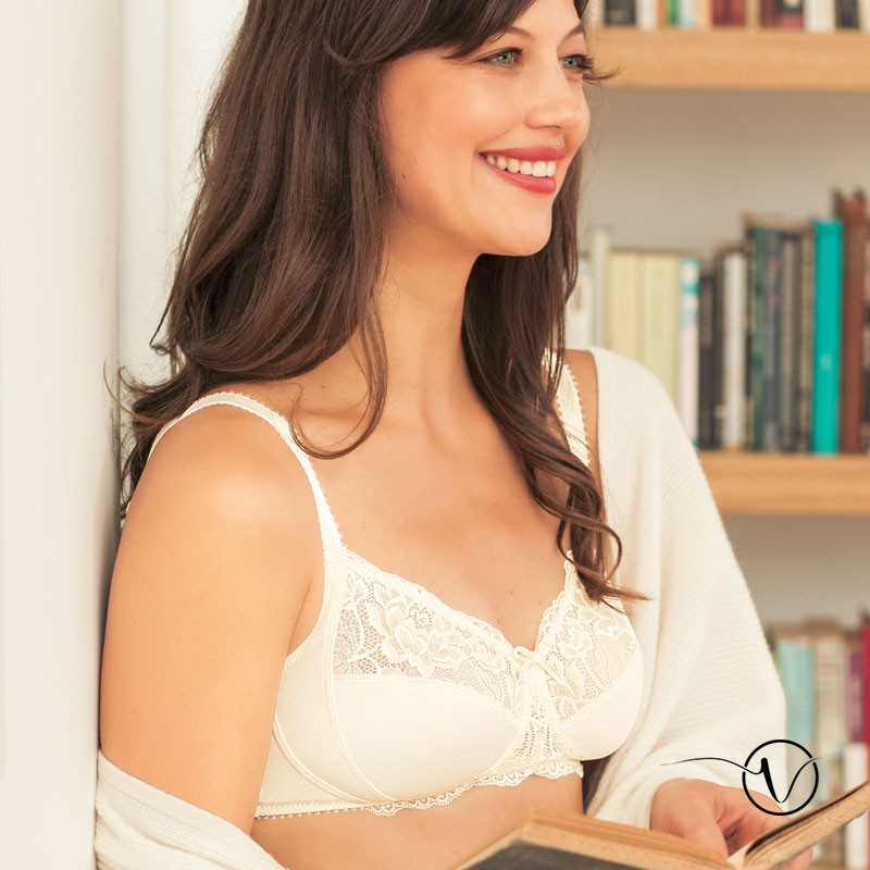 purchase cheap info for footwear Amoena - Lilly Wireless Mastectomy Bra - Off-White | Oncovia