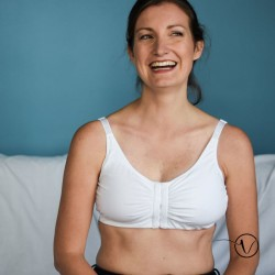 Frances Post-Surgery Mastectomy Bra - White - Amoena
