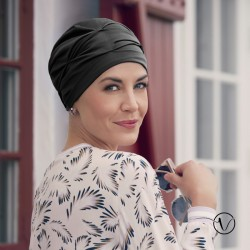 Ankaa Pleated Chemo Cap - Onyx