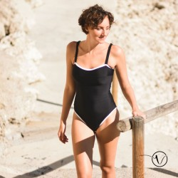 Black and white Mastectomy Swimsuit